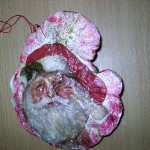 Kerstman op elfenbankje