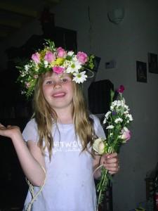 Bloemenkrans met rozen 2