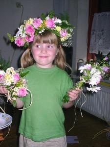 bloemenkrans met rozen