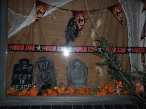 Raamdecoratie Halloween 1