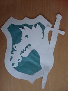 Schild en Zwaard met draak