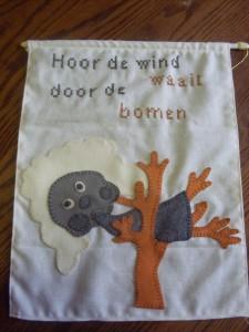Hoor de wind waait banner