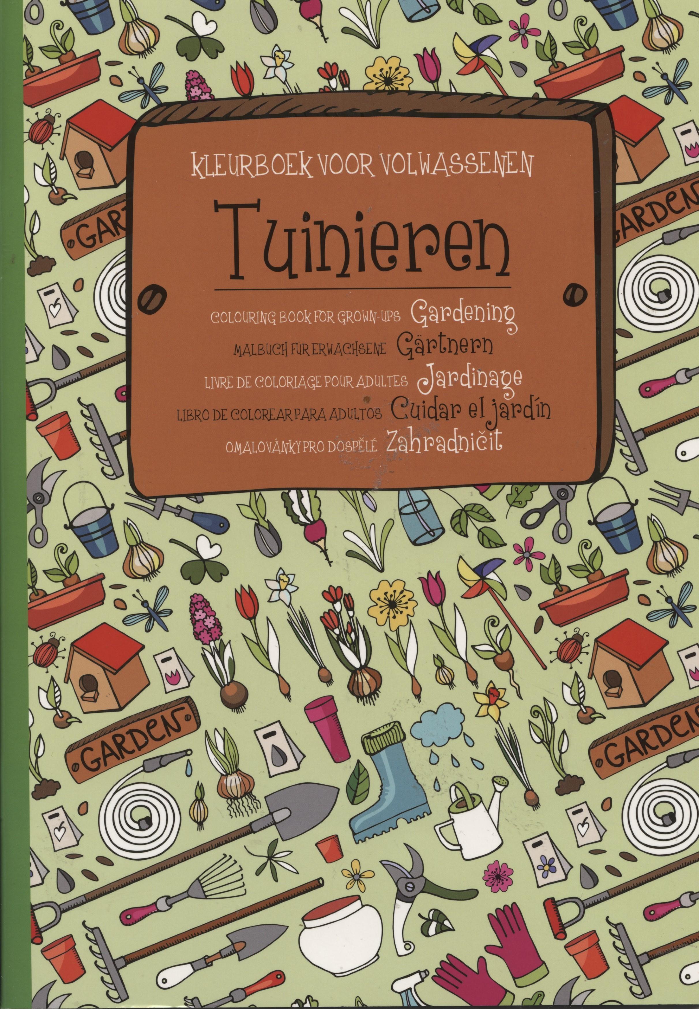 Kleurboek voor volwassenen tuinieren action