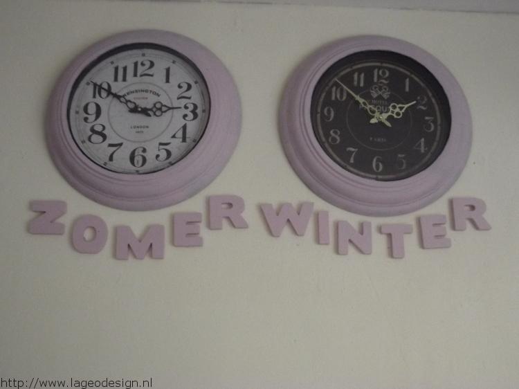 zomer en wintertijd